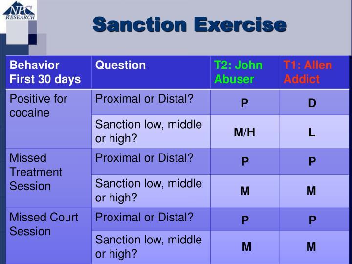 Sanction Exercise