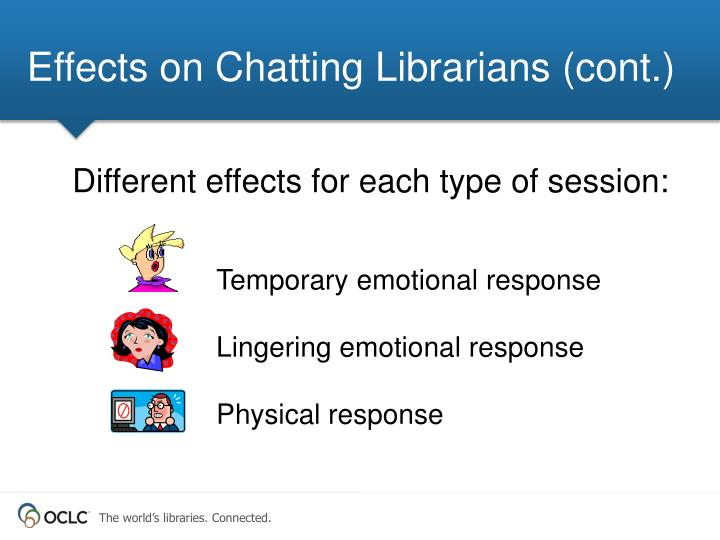 Effects on Chatting Librarians (cont.)