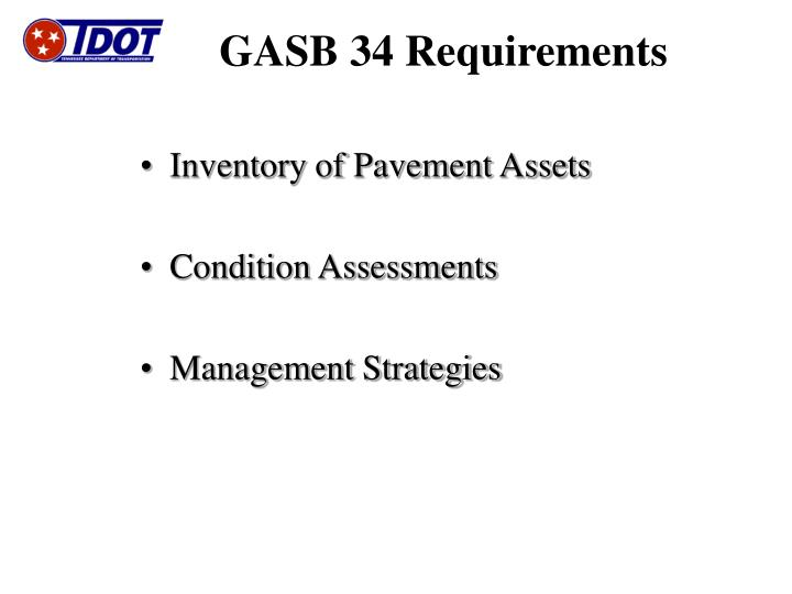 Gasb 34 requirements