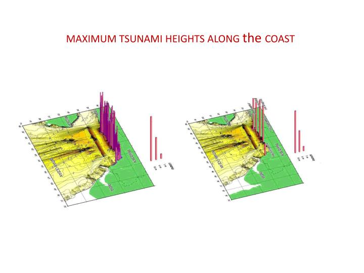 MAXIMUM TSUNAMI HEIGHTS ALONG