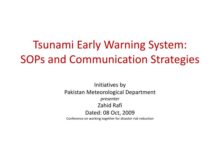 Tsunami Early Warning System: