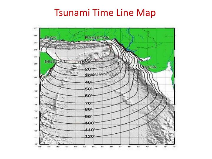 Tsunami Time Line Map