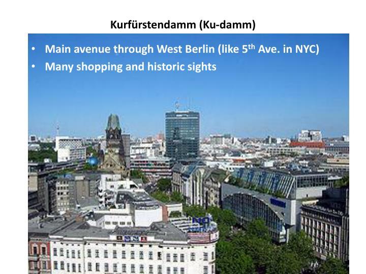 Kurfürstendamm (Ku-damm)
