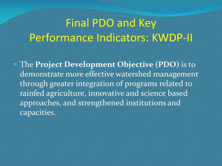 Final PDO and Key