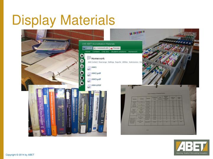 Display Materials