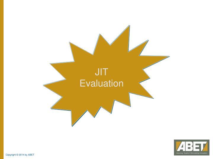 JIT Evaluation