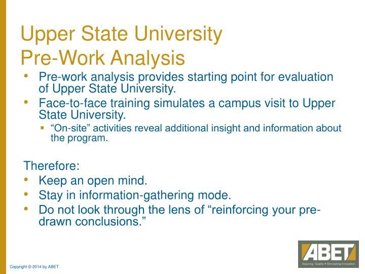 Upper State University