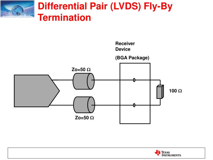 Differential Pair (LVDS) Fly-By Termination