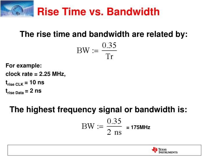 Rise Time vs. Bandwidth