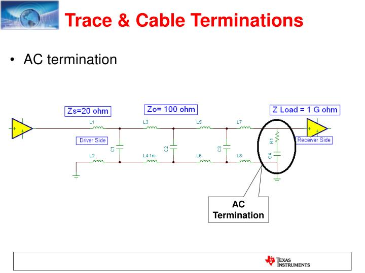 Trace & Cable Terminations