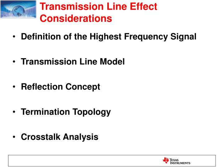 Transmission line effect considerations