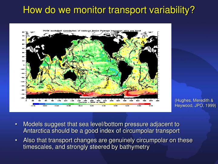 How do we monitor transport variability?
