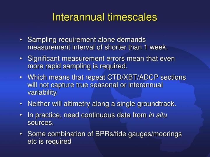 Interannual timescales