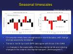 seasonal timescales