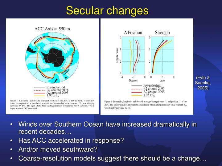 Secular changes