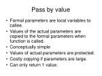 pass by value