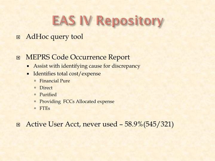 EAS IV Repository