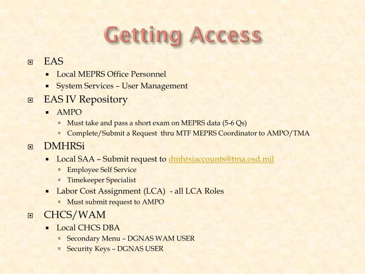 Getting Access