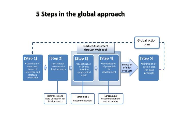 5 Steps in the global approach
