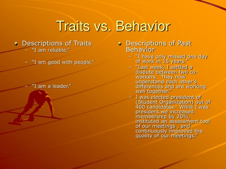 Descriptions of Traits