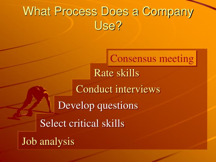 What Process Does a Company Use?