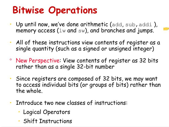 Bitwise Operations