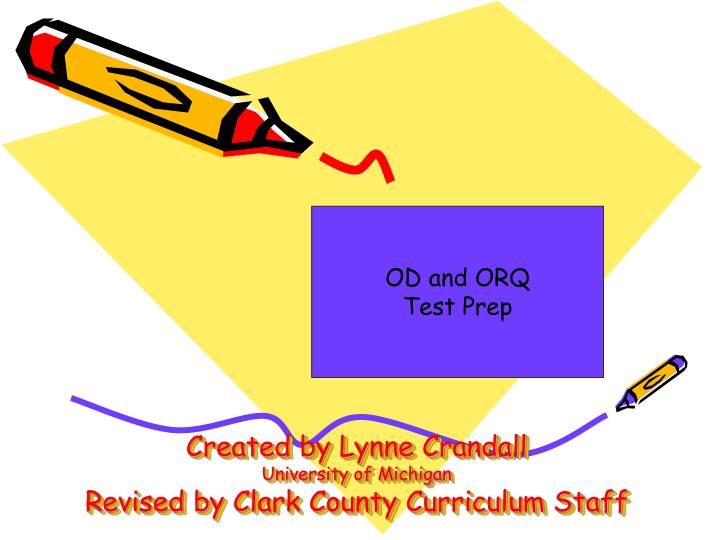 Created by lynne crandall university of michigan revised by clark county curriculum staff