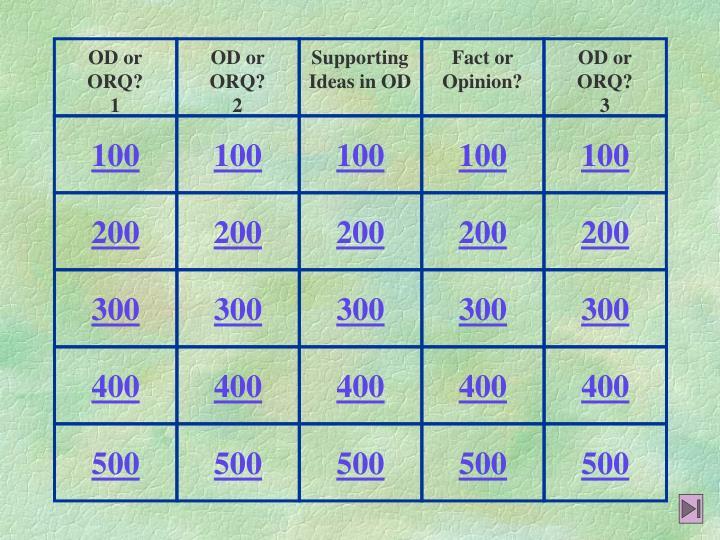 OD or ORQ?