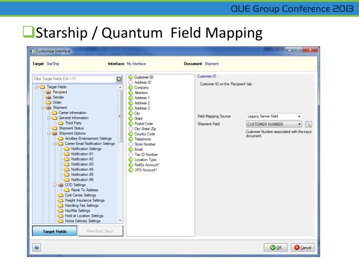 Starship / Quantum  Field Mapping