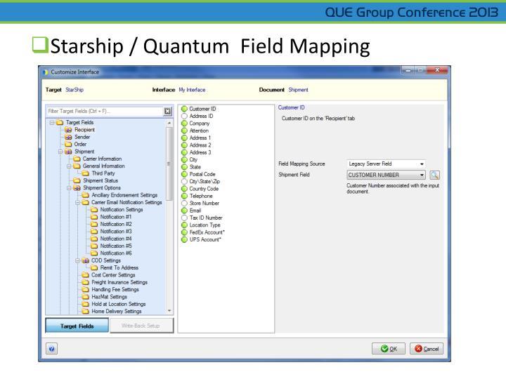Starship / Quantum  Field Mapping