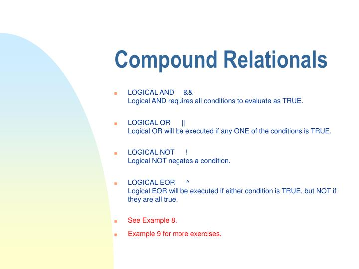 Compound Relationals