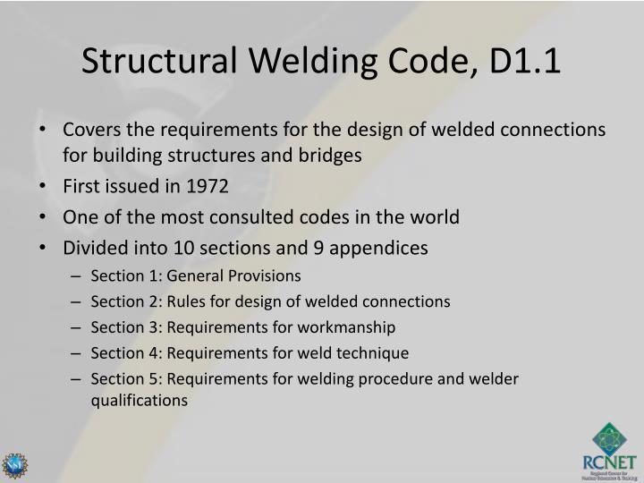 Structural Welding Code, D1.1