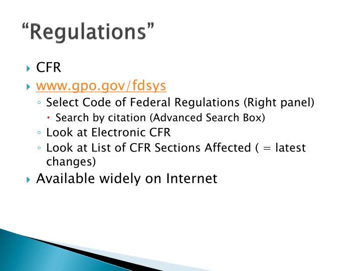 """Regulations"""