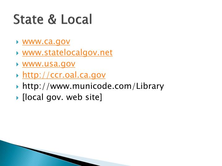 State & Local