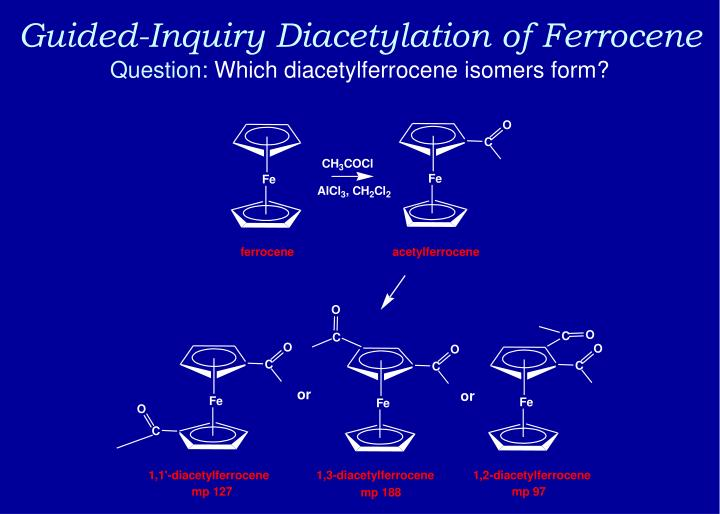 Guided-Inquiry Diacetylation of Ferrocene
