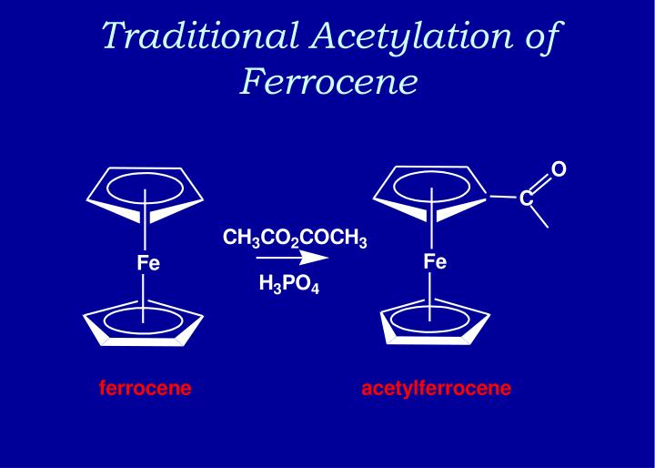 Traditional Acetylation of Ferrocene