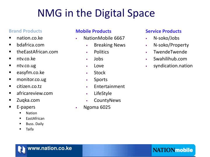 Nmg in the digital space