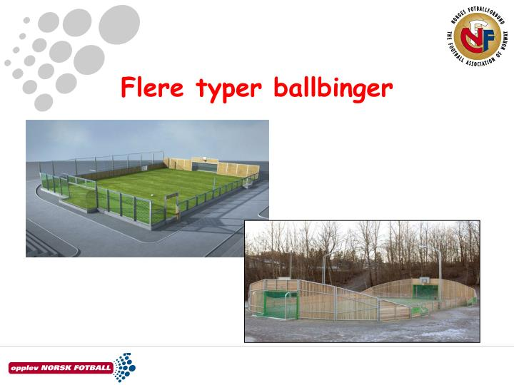 Flere typer ballbinger