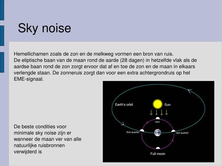 Sky noise