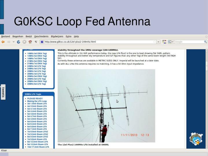 G0KSC Loop Fed Antenna