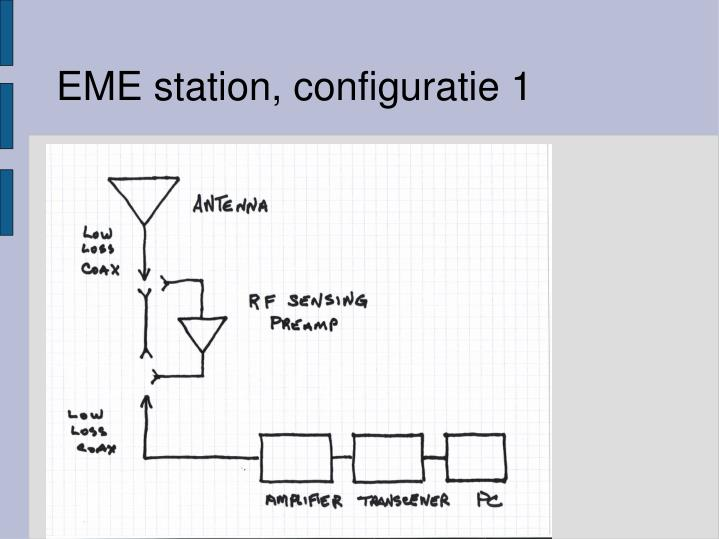 EME station, configuratie 1