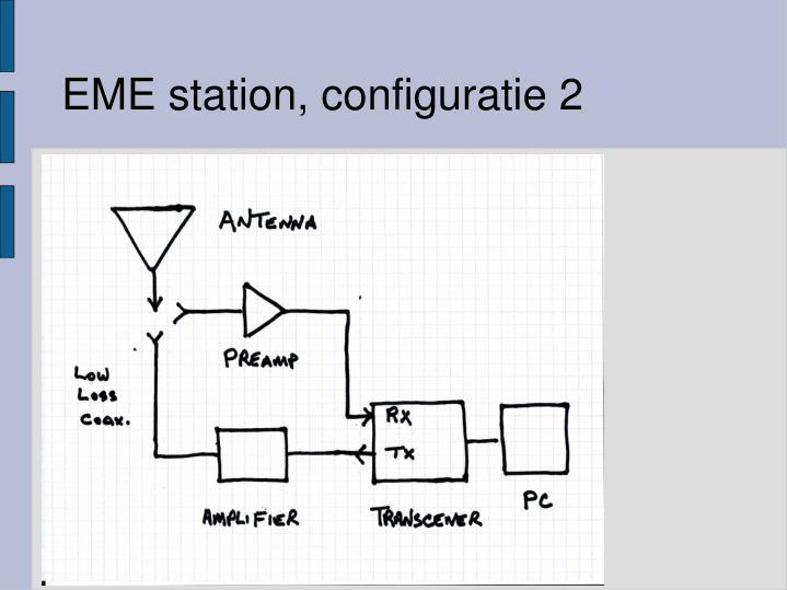 EME station, configuratie 2