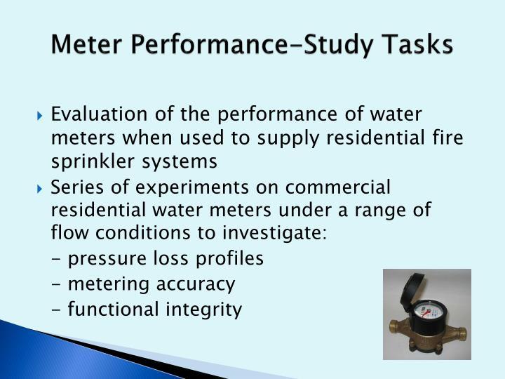 Meter Performance-Study Tasks