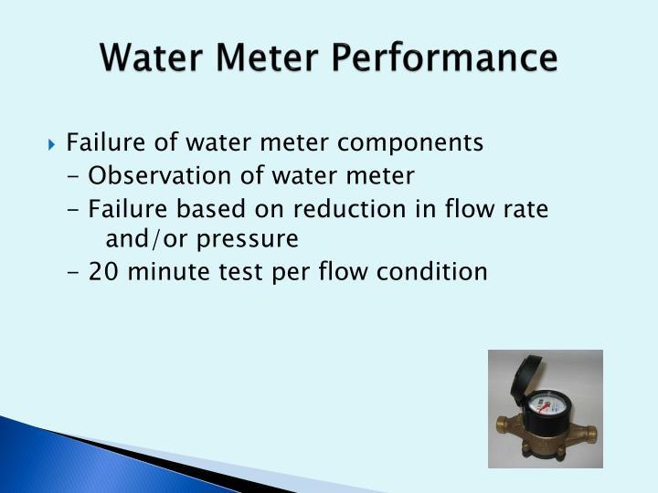 Water Meter Performance