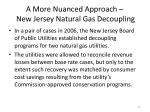 a more nuanced approach new jersey natural gas decoupling