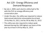 act 129 energy efficiency and demand response