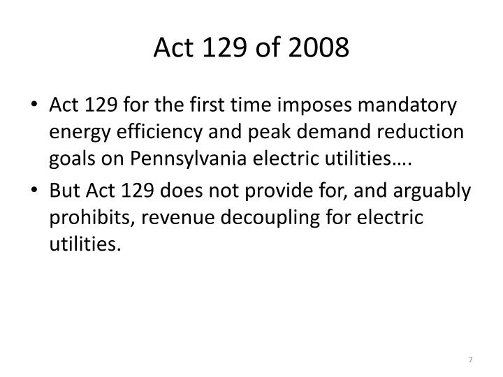 Act 129 of 2008