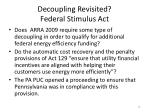 decoupling revisited federal stimulus act1