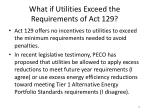 what if utilities exceed the requirements of act 129