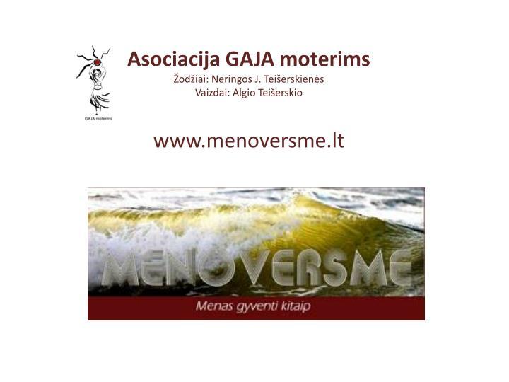 Asociacija GAJA moterims